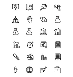 Finance line icons 1 vector