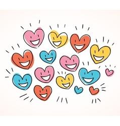 Flock of hearts vector