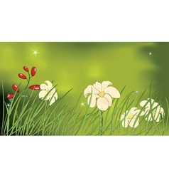 Flower glade vector image