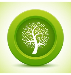 Green tree button vector image