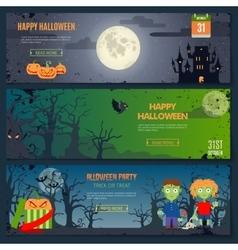 Happy Halloween Banner Set vector image