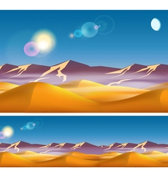 Hot desert in the daytime vector image vector image