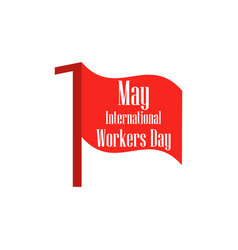 international workers day labour day 1st of may vector image