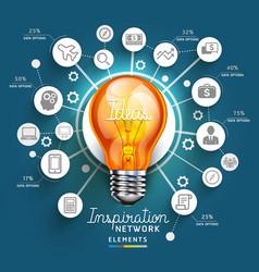 Light Bulb Ideas concept template vector image vector image