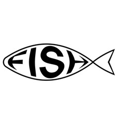 Logo is fish shop with text fish inside vector