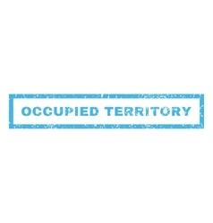 Occupied territory rubber stamp vector