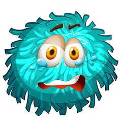 Pom-pom with crying face vector