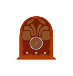 Radio retro vintage old music media broadcast vector