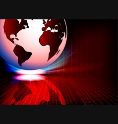 Red background with a white ball vector