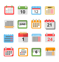 set of different calendars in flat style vector image vector image