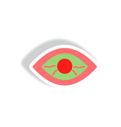 Stylish icon in paper sticker style eye problems vector