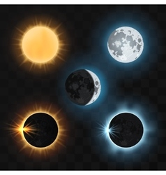 Sun moon eclipses vector