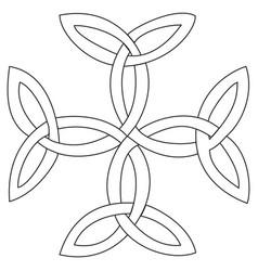 triquetras cross symbol vector image vector image