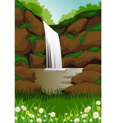 waterfall vector image vector image