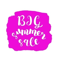 Big summer sale brush lettering vector