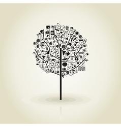 Tree a beach vector image