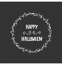 Halloween lettering greeting card background vector