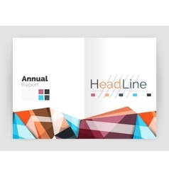 Geometric annual report business template vector