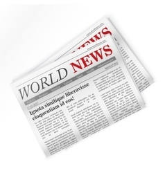 Newspaper world news regional newspapers news vector