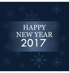 Happy new year 2017 greeting card blue background vector