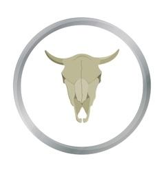 Bull skull icon cartoon Singe western icon from vector image