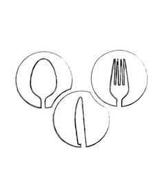 monochrome blurred contour of circular frames with vector image