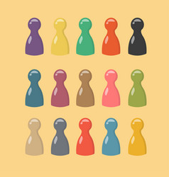 Lovely big set of colorful game pieces gaming vector