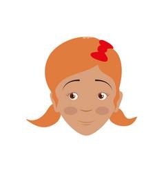kid child girl avatar head vector image