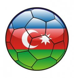 azerbaijan flag on soccer ball vector image