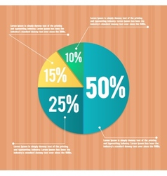 Business pie chart vector