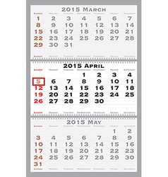 2015 april with red dating mark vector