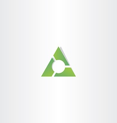 Green triangle gradient logo design element vector