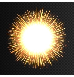 Transparent light flare firework effect isolated vector