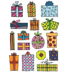 Hand drawn gifts vector