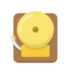Alarm bell flat icon vector