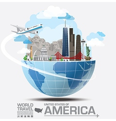 America landmark global travel and journey vector