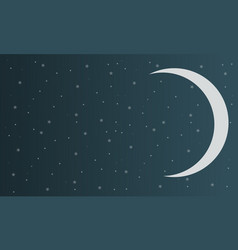 Background sky with star moon design vector