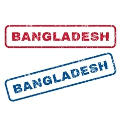 Bangladesh rubber stamps vector
