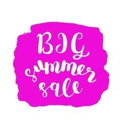 Big summer sale Brush lettering vector image