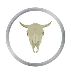 Bull skull icon cartoon singe western icon from vector