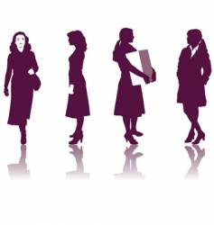 business women silhouettes vector image vector image