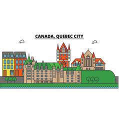 Canada quebec city city skyline architecture vector