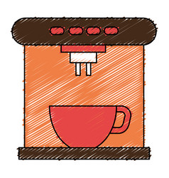 Coffee maker machine icon vector