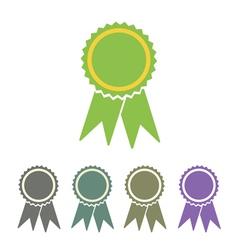 diploma seal web icon vector image