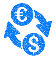 Euro dollar change grunge icon vector