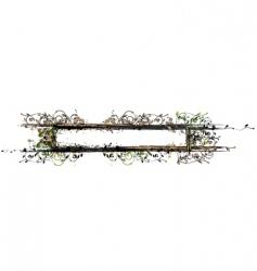 garden border vector image