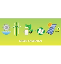green campaign concept with new energy vector image