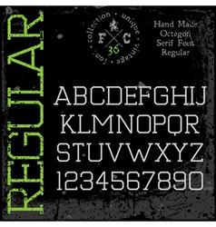 Handmade retro font Slab serif vector image vector image