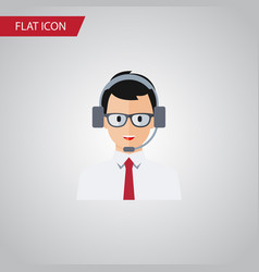 Isolated operator flat icon help element vector