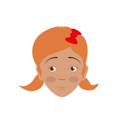 kid child girl avatar head vector image